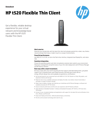 HP t520 Flexible Thin client(English(AMS))