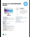 AMS HP 22er 21.5-in IPS LED Backlit Monitor Datasheet