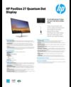AMS HP Pavilion 27 Quantum Dot Display Datasheet