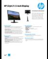 AMS HP 22yh 21.5-inch Display Datasheet