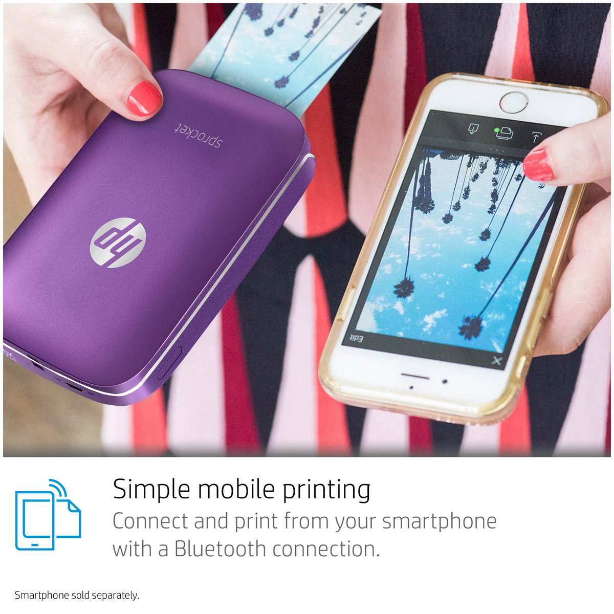 Hot Deals Hp Sprocket Photo Printer White Harvey Norman Au Ink Free Mobile Technology