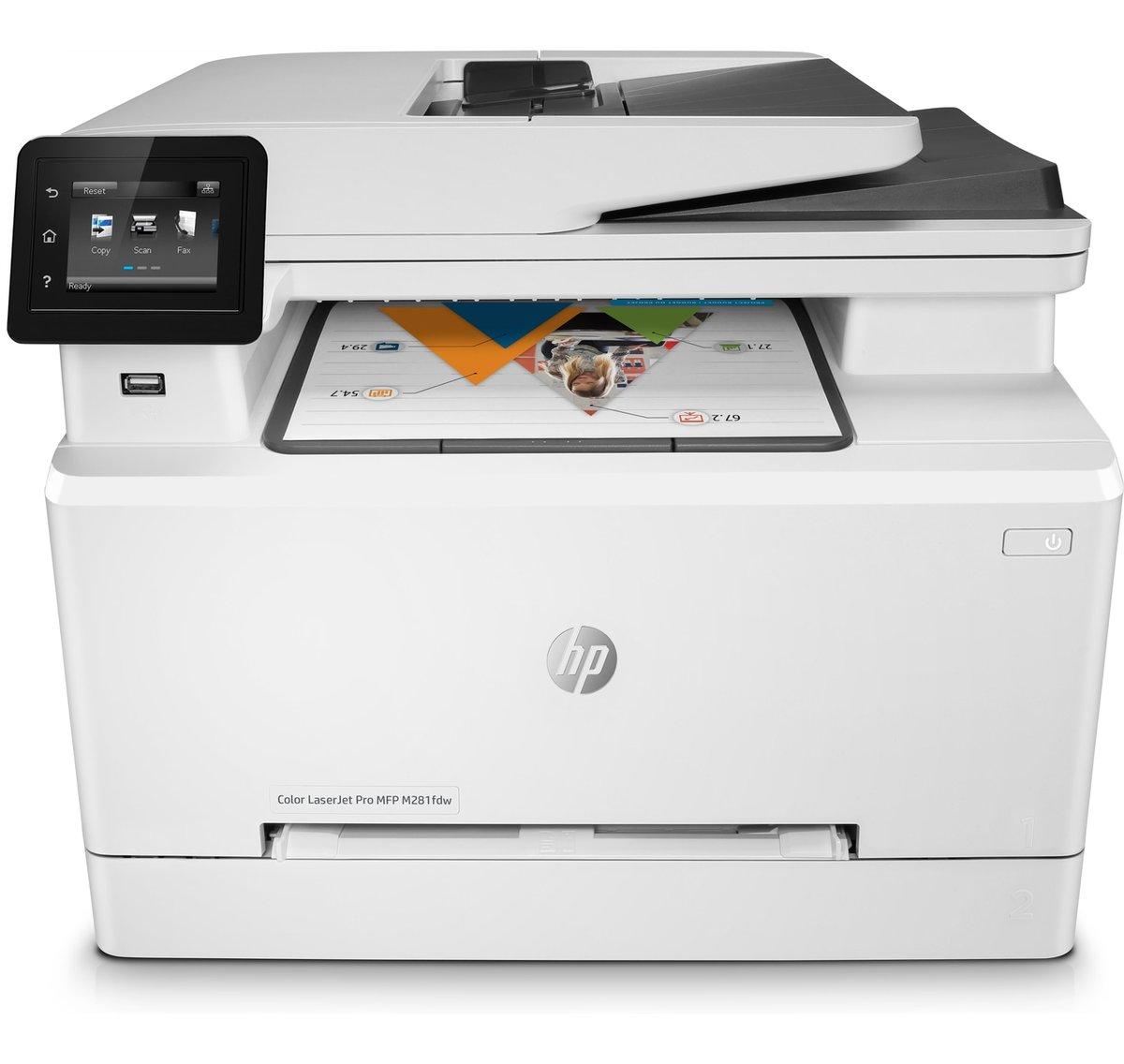 slide 1 of 20,show larger image, imprimante multifonction hp color laserjet pro m281fdw