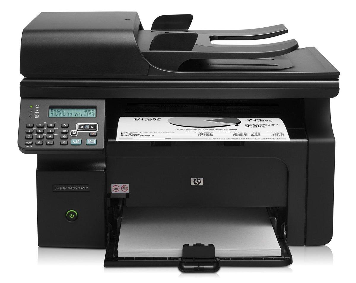 CE841A#B19 - HP LaserJet Pro M1212nf MFP - multifunction printer (B/W) -  Currys PC World Business