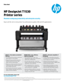HP DesignJet T1530 Printer Series Datasheet