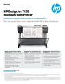 HP DesignJet T830 Multifunction Printer Datasheet