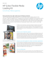 HP Scitex Flexible Media Loading Kit For the HP Scitex 17000 Corrugated Press