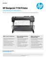 HP DesignJet T730 Printer Datasheet