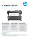 HP DesignJet T730 Printer Datasheet