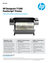 HP DesignJet T1300 PostScript® Printer LS
