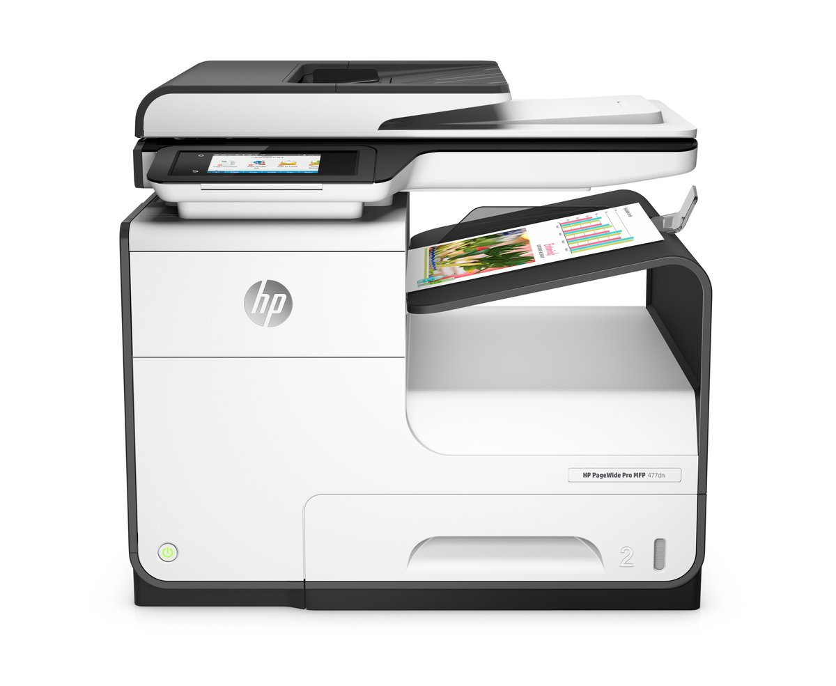 Hp Pagewide Pro 477dn Color Inkjet All In One Printer Copier Scanner