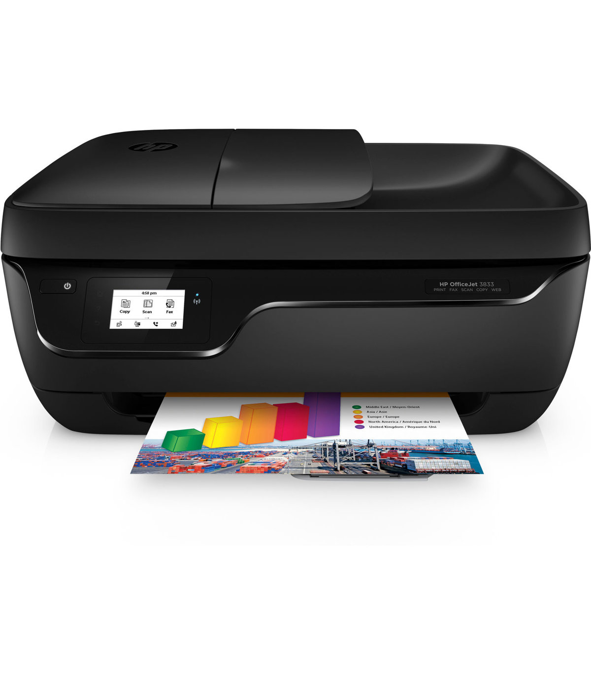 HP OfficeJet 3830 All in One Wireless Printer with Mobile Printing K7V40A  by Office Depot & OfficeMax