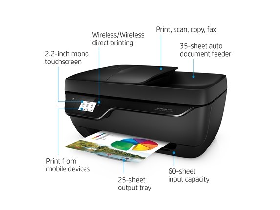 How To Fix Paper Jam In Hp Officejet 3830 - Office