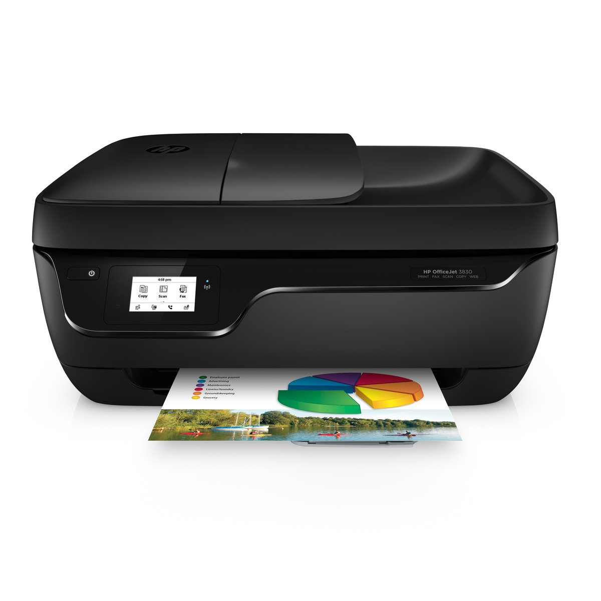 Color printing office depot - Hp Officejet 3830 Wireless Color Inkjet All In One Printer Scanner Copier And Fax By Office Depot Officemax
