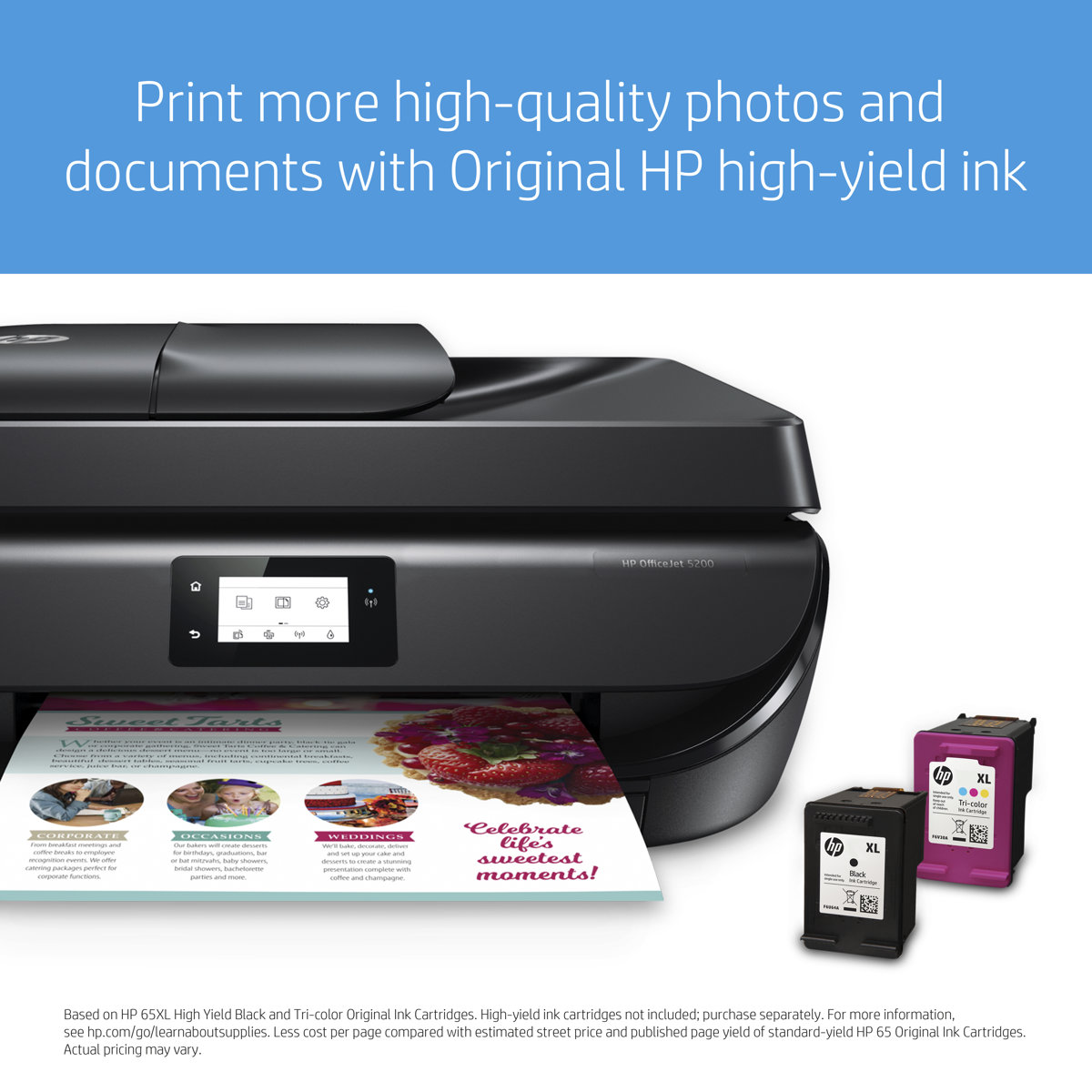 OfficeJet 5230 - Color All-in-One Printer - Inkjet - A4 - USB / Wi-Fi