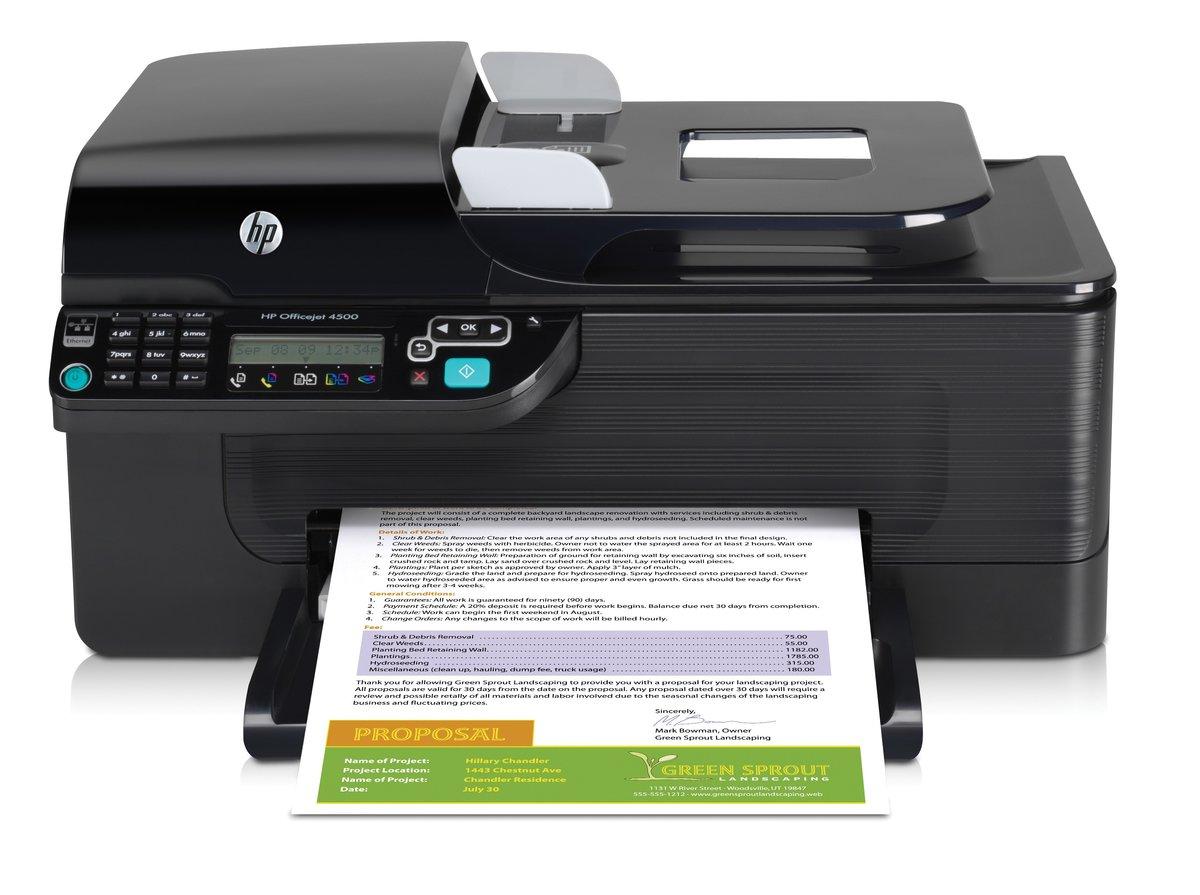 hp officejet 4500 color all in one printer copier scanner fax by rh officedepot com Install HP Officejet 4500 Desktop owner's manual hp officejet 4500