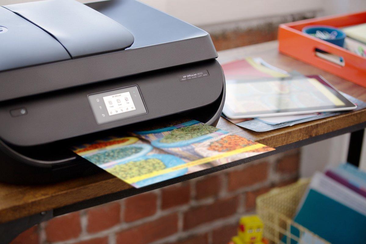 Used - Like New: HP OfficeJet 4650 (F1J03A#B1H) Duplex 4800 x 1200 DPI USB  / Wireless Color Inkjet All-in-One Printer - Newegg com