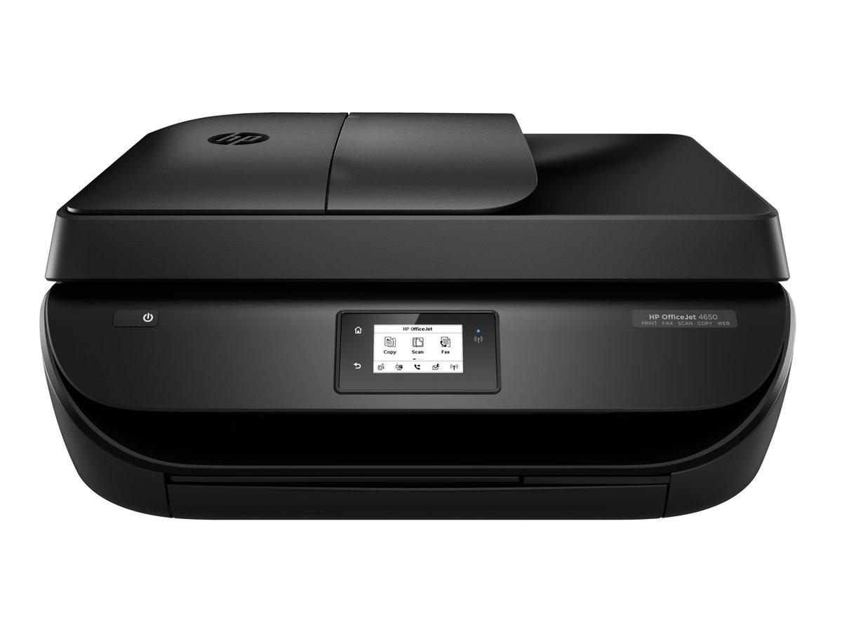 Hp® officejet 4650 wireless all in one inkjet printer black f1j03a