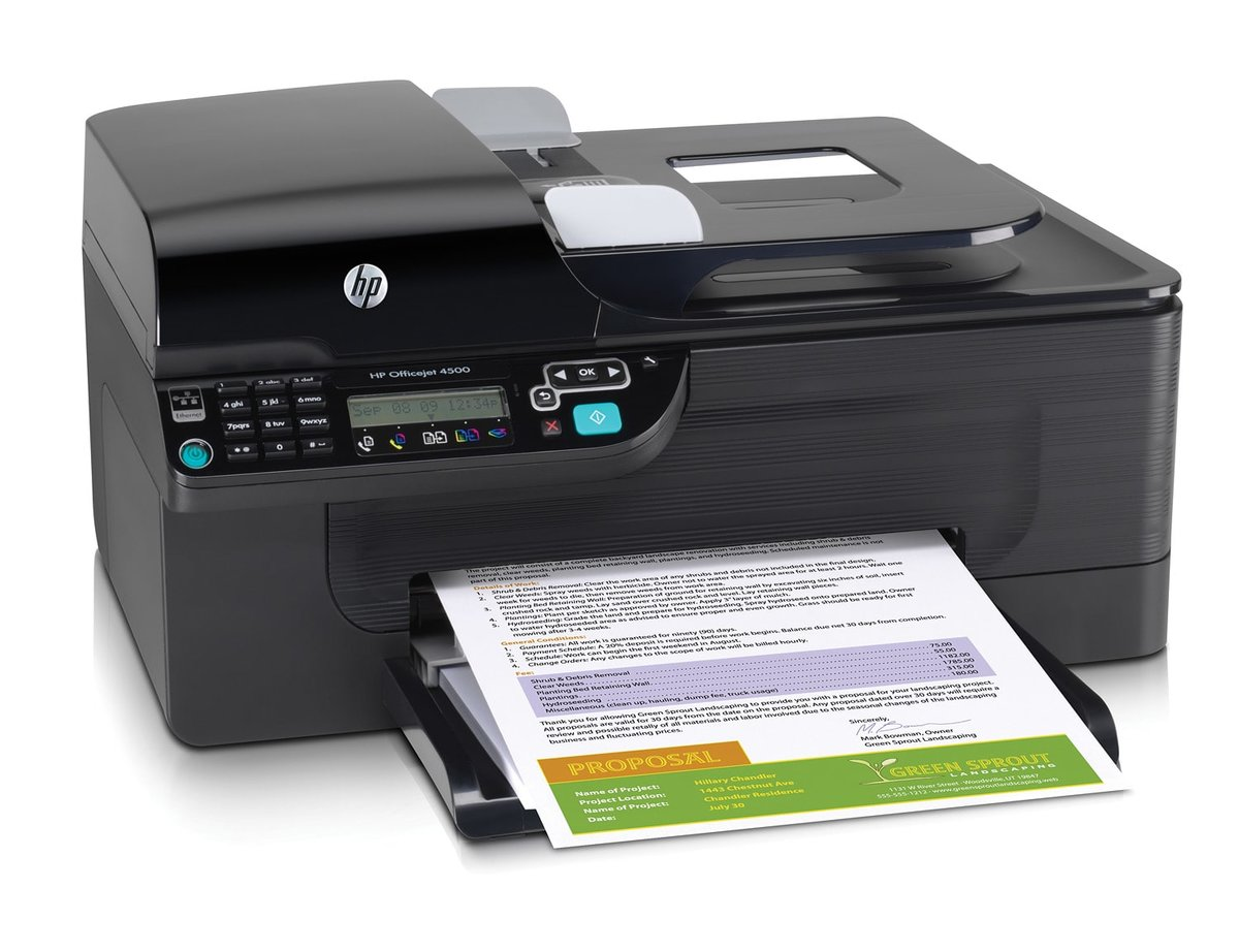 HP Officejet 4500 Color All In One Printer Copier Scanner Fax by Office  Depot & OfficeMax