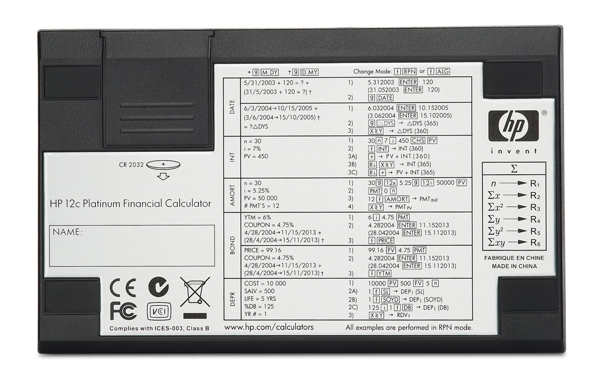 HP 12C Financial Calculator Platinum Edition by Office Depot – Financial Calculator