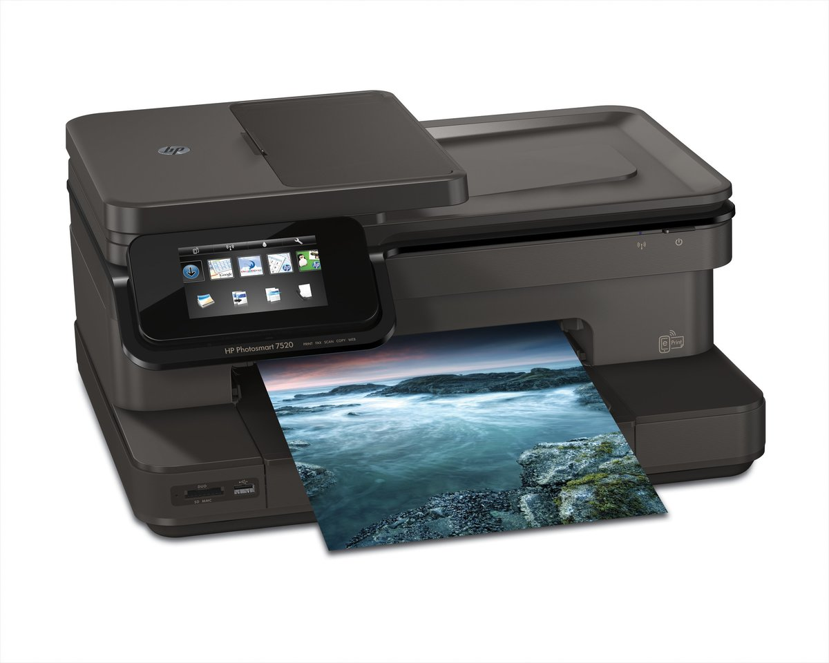 HP Photosmart 7520 E All In One Printer By Office Depot OfficeMax