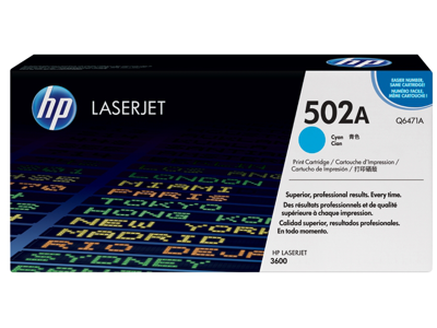 HP 502A Cyan Original LaserJet Toner Cartridge