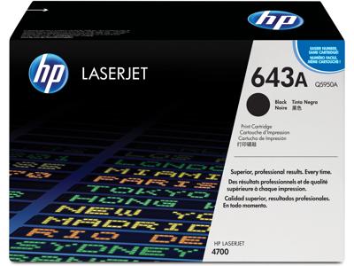 HP 643A Black Original LaserJet Toner Cartridge