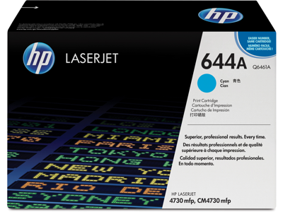 HP 644A Cyan Original LaserJet Toner Cartridge