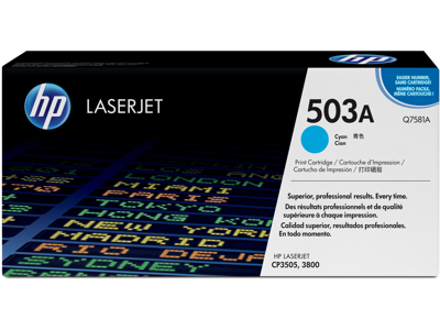 HP 503A Cyan Original LaserJet Toner Cartridge