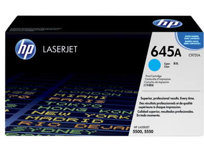 HP 645A Cyan Original LaserJet Toner Cartridge