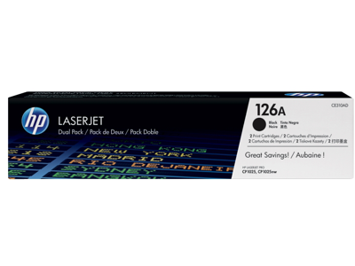 HP 126A 2-pack Black Original LaserJet Toner Cartridges
