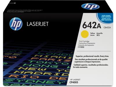 HP 642A Yellow Original LaserJet Toner Cartridge