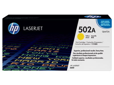 HP 502A Yellow Original LaserJet Toner Cartridge