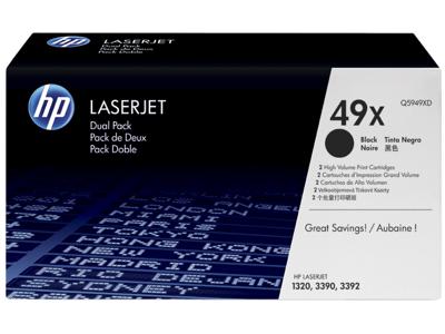HP 49X 2-pack High Yield Black Original LaserJet Toner Cartridges