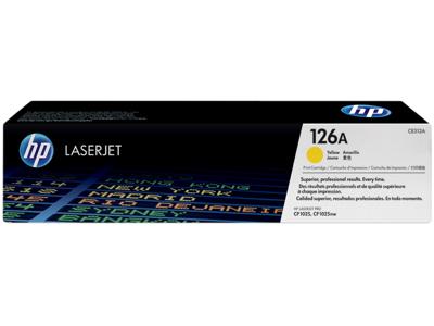 HP 126A Yellow Original LaserJet Toner Cartridge