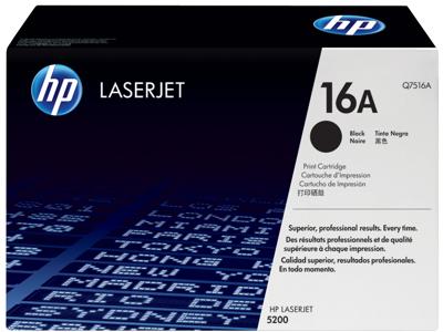 HP 16A Black Original LaserJet Toner Cartridge