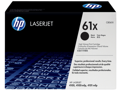 HP 61X High Yield Black Original LaserJet Toner Cartridge