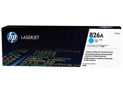 HP 826A Cyan Original LaserJet Toner Cartridge