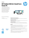 AMS HP ProDesk 400 G2.5 Small Form Factor PC Datasheet