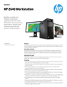 HP Z640 Workstation Datasheet (AMS English)