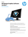 HP Remote Graphics Software (RGS) version 7 Datasheet - June 2014
