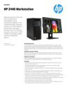 HP Z440 Workstation Datasheet (AMS English)