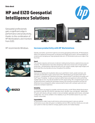HP and EIZO Geospatial Intelligence Solutions