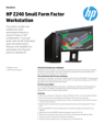 AMS NA HP Z240 Small Form Factor Workstation Datasheet