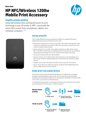 HP NFC/Wireless 1200w Mobile Print Accessory