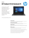 AMS HP ProBook 470 G5 Notebook PC Datasheet