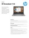 AMS HP Chromebook 11 G5 Datasheet