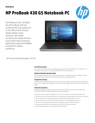 AMS HP ProBook 430 G5 Notebook PC Datasheet
