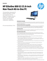 AMS HP EliteOne 800 G3 23.8-inch Non-Touch All-in-One PC Datasheet