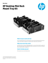 Desktop Mini Rack Mount Tray Kit Data Sheet
