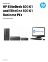 HP EliteDesk and EliteOne 800 G1 Datasheet